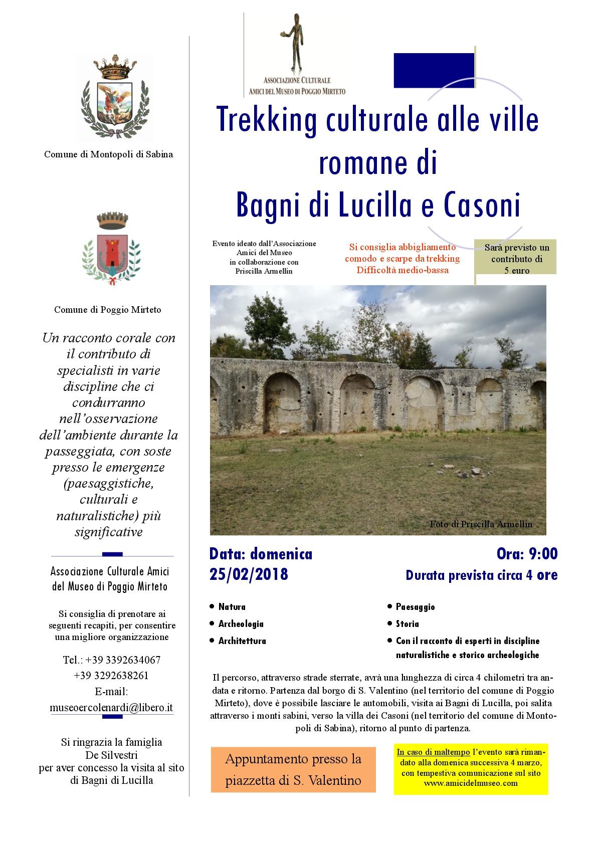 Comune Di Montopoli Di Sabina il 22 aprile l'archeotrekking a san valentino   amici del